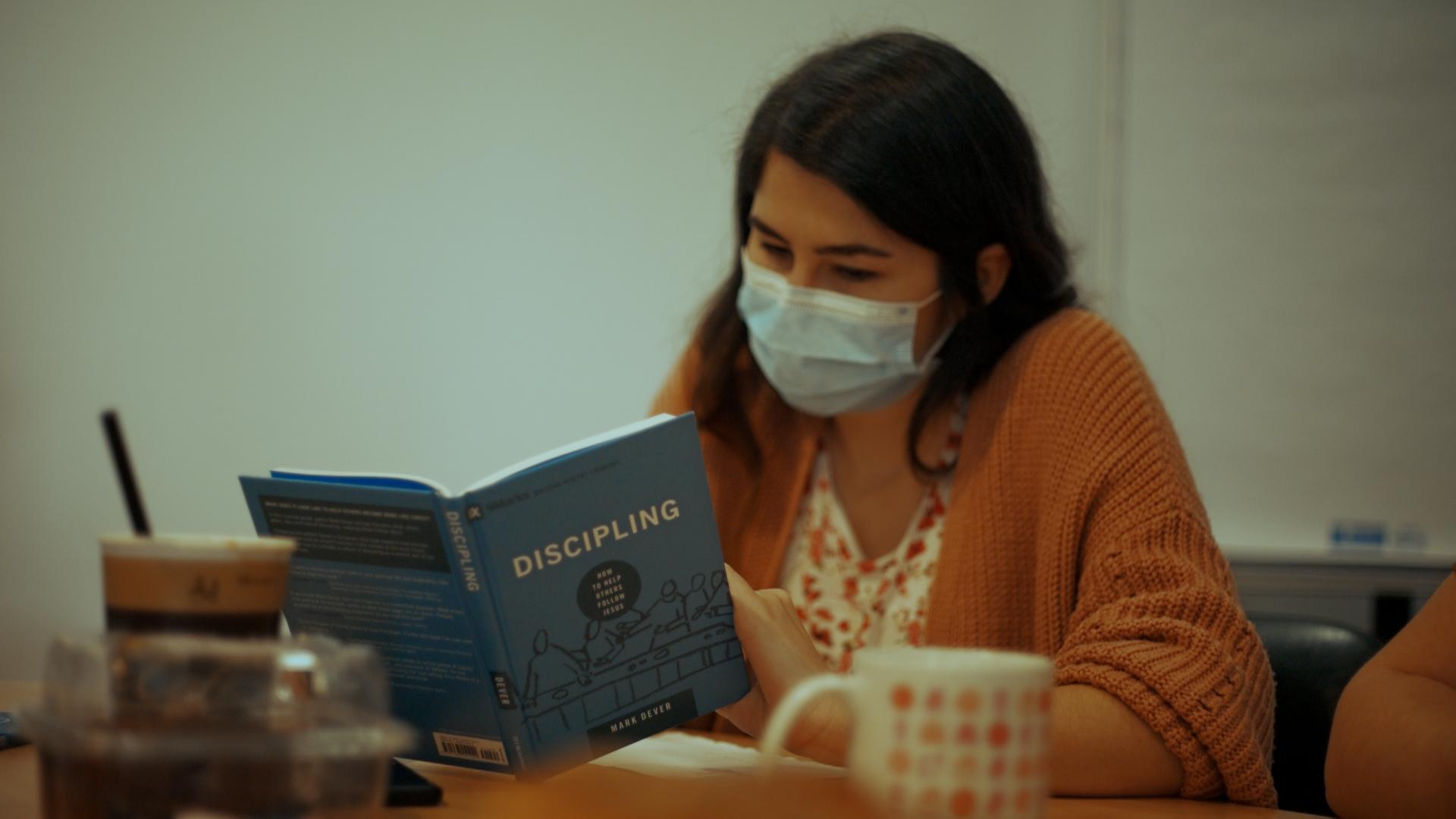 Alexandra studying